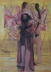 10 Minuten, 2011, Acryl auf Leinwand, 140x100cm (c) Michael Hedwig