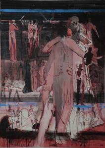 Mein Tod, 2011, Acryl auf Leinwand, 140x100cm (c) Michael Hedwig