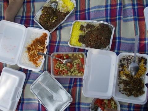Ashura-Essen im Park
